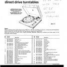 Garrard DD131 (DD-131) Turntable Technical Repair Service Information etc
