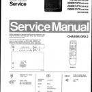 Philips 25MN1550 22B 25B 27B 28B 30B 33B 36B Technical Repair Schematics Circuits Service Manual
