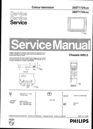 Philips 25ST1724 02B Technical Repair Schematics Circuits Service Manual