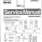 Philips 52ZY3535 03B 05B 06B 08B 13B 16B 22B 25G 26B 33B Technical Repair Schematics Circuits Servic