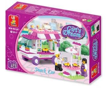 Girl's Dream-Serving Cart Building Block MISB