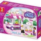 Girl's Dream-Serving Cart Building Block MISB