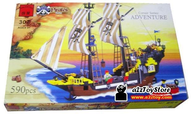 Pirates Ship Adventure Building Block MISB
