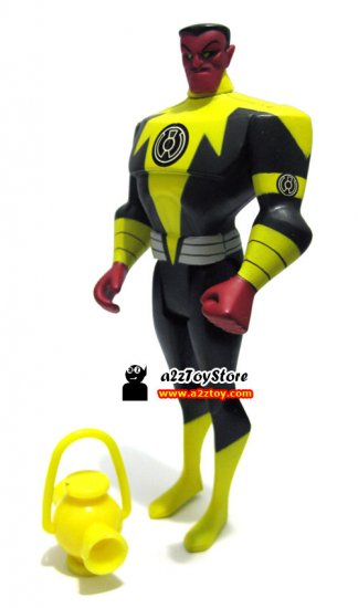 DC Universe JLU Yellow Sinestro w/lantern loose figure