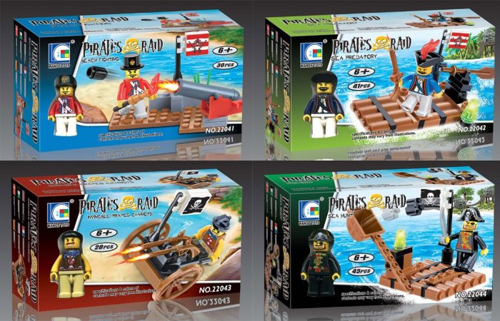 Pirates Raid Series - Set of 4 Building Block MISB