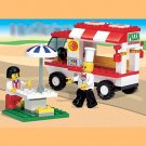 Business Street Series- Pizza Mobile Car Building Block