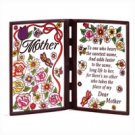 Mother Simulated Glass Plaque Butterfly Mom