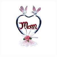 Color Glass Heart Mom
