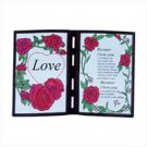 Love Simulated Stain Glass Plaque