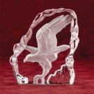 Clear Glass Carved Eagle : 28313
