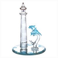 Color Glass Lighthouse Dolphin Mirror  33919