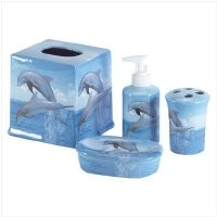 Dolphin Design Bath Set Soap Soap Dish 33836