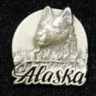Pewter 3-d Collector Pin - Alaska Dog Team PN2118E