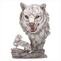 White Tiger with Tiger Head