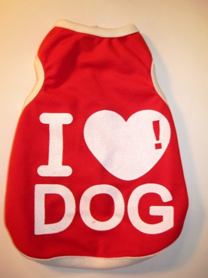 Dog Shirt, Dog clothes, Pet Apparel - I love Dog shirts - XS , S