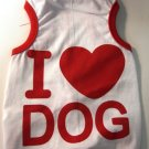 Dog Shirt, Dog clothes, Pet Apparel - I love Dog shirts - XS , S , M