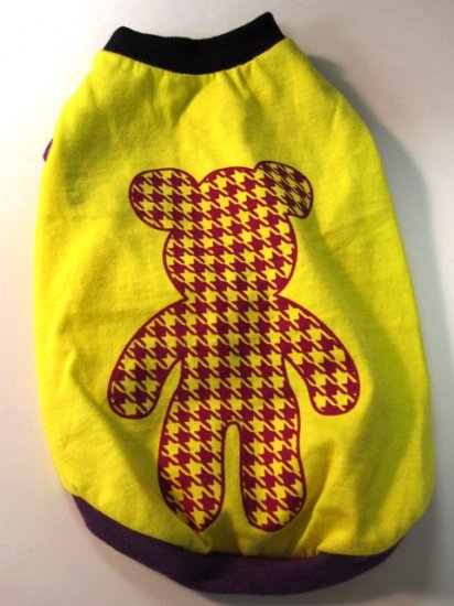 Dog Shirt, Dog clothes, Pet Apparel - Micky shirt (Yellow with purple) - XS , S