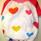Dog Shirt, Dog clothes, Pet Apparel - Pink Heart Shirt - S