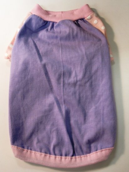 Dog Shirt, Dog clothes, Pet Apparel - Purple with Pink shirt - S