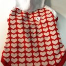 Dog Shirt, Dog clothes, Pet Apparel - Heart Hoodies (Red and White) - S, M
