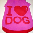 Dog Shirt, Dog clothes, Pet Apparel -  I Love Dog Shirts -  XS