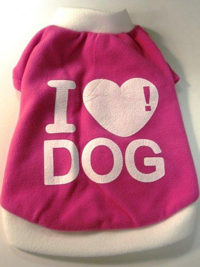 Dog Shirt, Dog clothes, Pet Apparel -  I Love Dog Shirts - XS