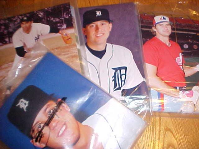 Wholesale lot of 217 8x10 color MLB photos Doherty autograph Sal Maglie, Parrish