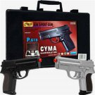 2 Airsoft Guns gun set P618 Dual Spring Pistol Set with carrying case Brand NEW