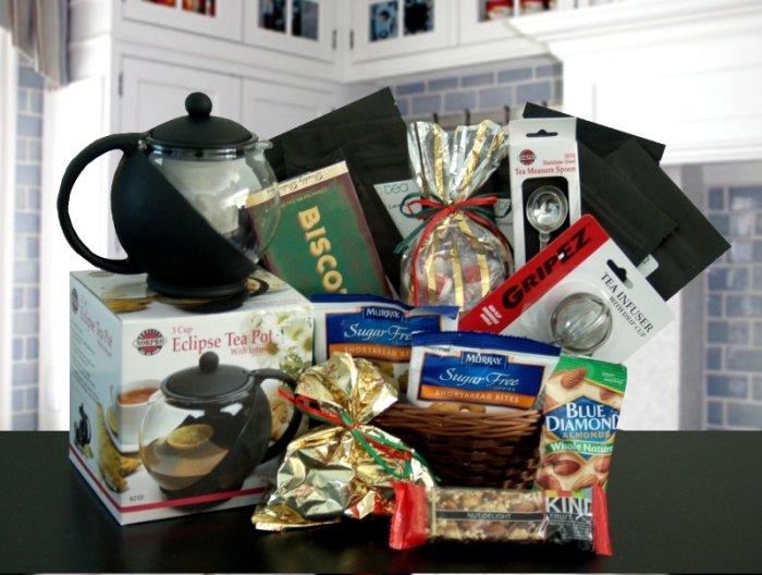 Delux Diabetic Delight, Gourmet Tea Gift Basket
