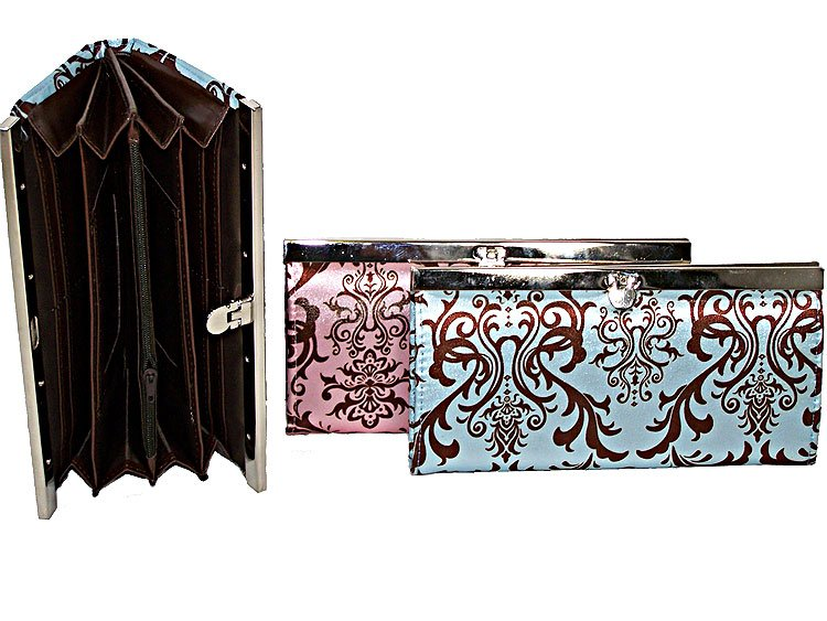 NEW LADIES DESIGNER INSPIRED CLUTCH WALLET BAG PURSE NT