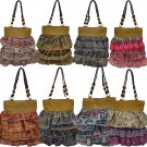 Straw Scarf Fabric Beach Fashion Bag Handbag Purse Tote