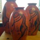 Kokopelli Vases (3 piece set)