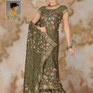 Light Green color Georgette Saree with BP.