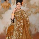 Mustard color Georgette Saree with BP.
