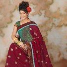 Maroon color Georgette Saree with BP.