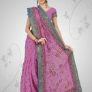 Pink Shade Georgette Saree with BP.