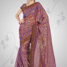 Violet color Georgette saree with BP.