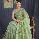 Light Green color Net Saree with BP.
