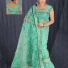 Sea Green color Net Saree with BP.