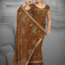 Mustard colro Georgette saree with BP.