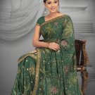 Green color Georgette Saree with BP.