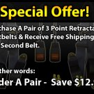 3 POINT RETRACTABLE REPLACEMENT SEATBELT FAST DELIVERY