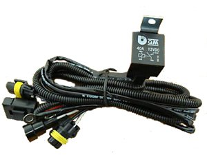 HID RELAY WIRING HARNESS WITH FUSE FAST USA SHIPPING!