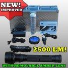 35 Watt Rechargeable HID Flashlight 2500 LM +Amber Lens
