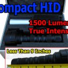 Compact 24W HID Flashlight 1500 LM - Less Than 9 Inches