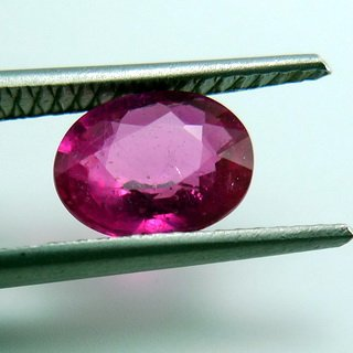 1.65ct. UNHEATED! 100% NATURAL OVAL RUBY MOZAMBIQUE