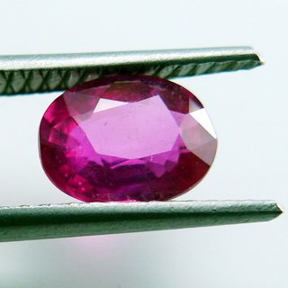 1.60ct. UNHEATED! 100% NATURAL OVAL RUBY MOZAMBIQUE