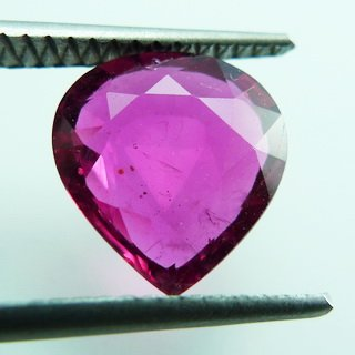 3.00ct. UNHEATED! 100%NATURAL PEAR FACET RUBY MOZAMBIQUE NR!