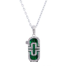Stainless Steel Crystal USB 2.0 Flash drive Necklace (4GB)