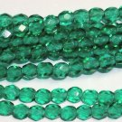 Medium Emerald Czech Firepolish 4mm